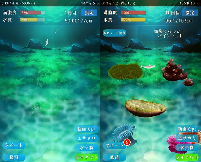 動物育成ゲームアプリ画面25-1
