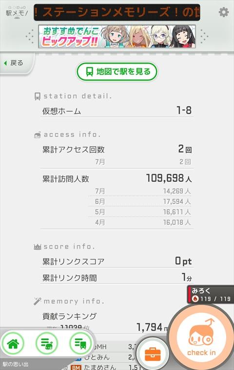 駅メモ!新宿駅の情報