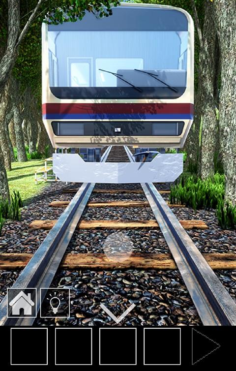 電車のある道~ゲーム画面1
