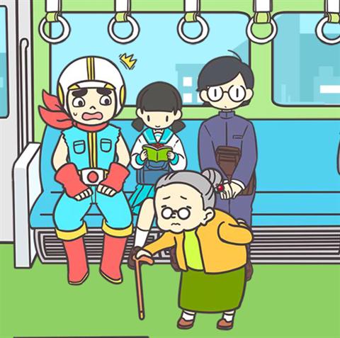 電車で絶対座るマン~画面9